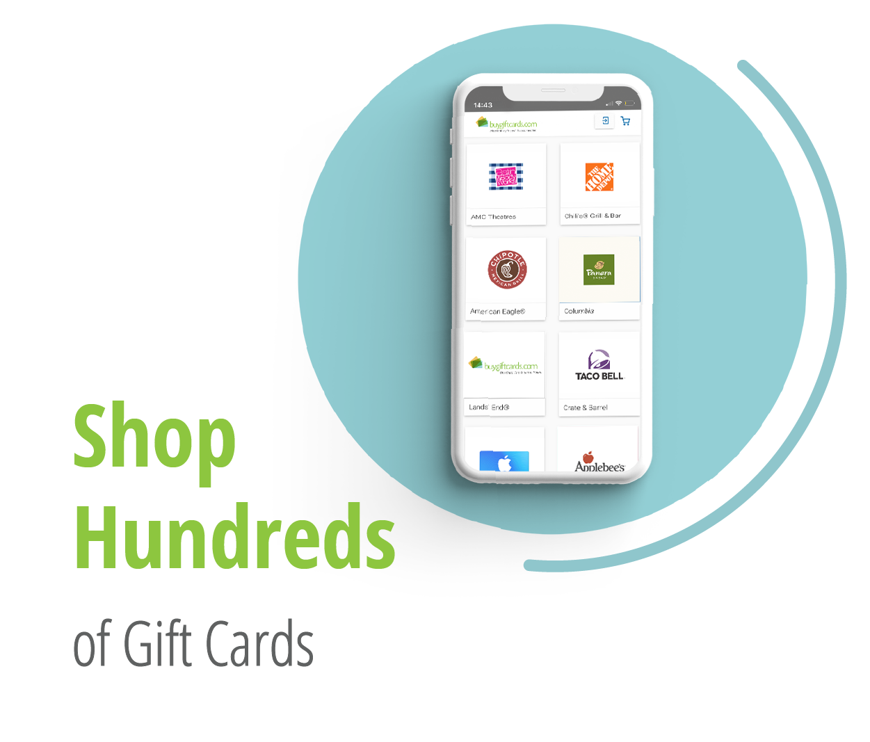 Shop Hundreds of Gift Cards