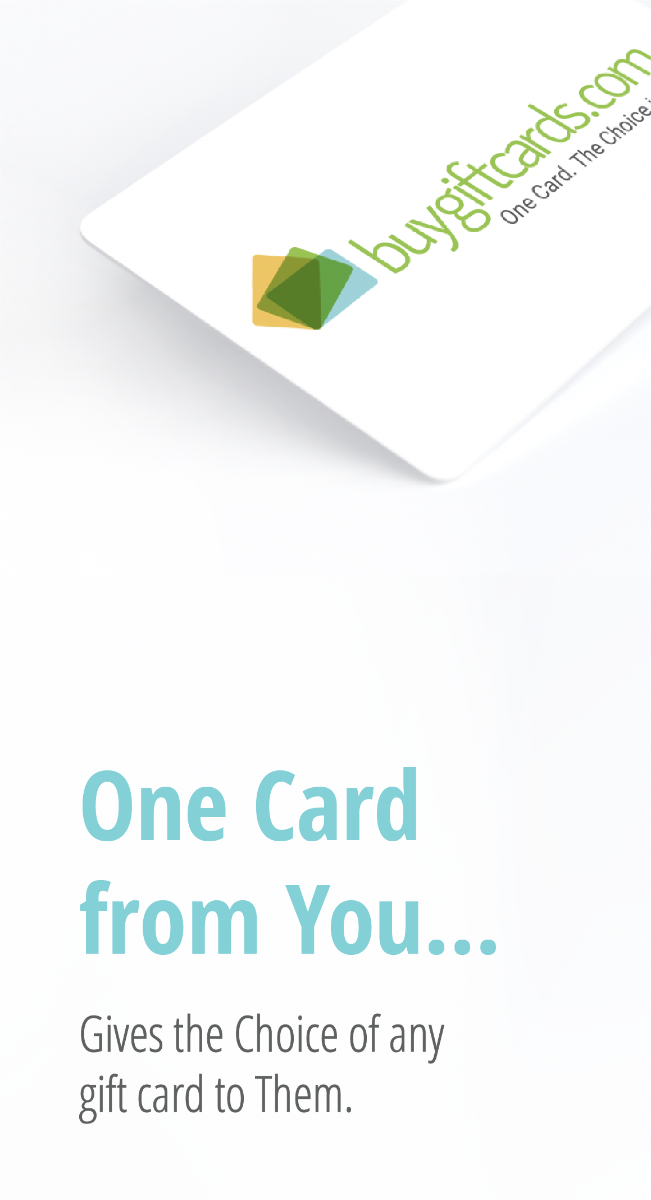 One Card. All the Choices - Buy Gift Cards