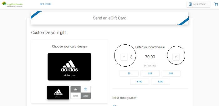 Choose Gift Card Denomination