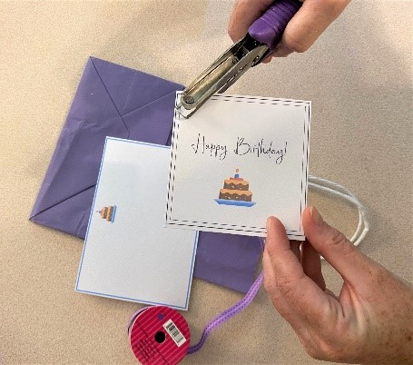 Punch Printable Birthday Card