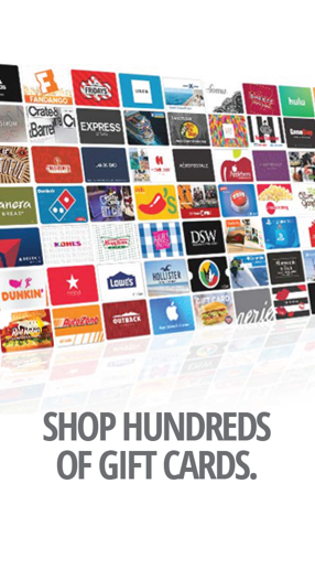 Shop hundreds of Gift Cards - Buy Gift Cards